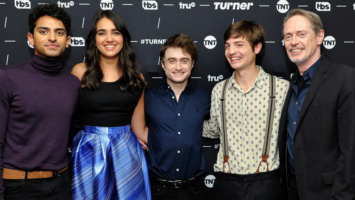 Karan Soni, Geraldine Viswanathan, Daniel Radcliffe, Simon Rich and Steve Buscemi of Miracle Workers.