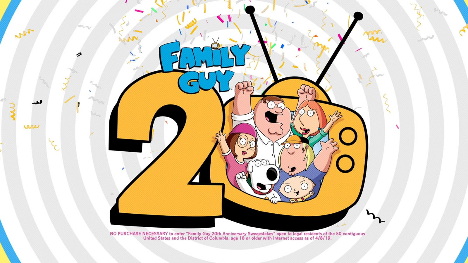Family Guy 20th Anniversary Sweepstakes | TBS com