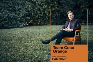 "Pantone Honored Conan O'Brien by Developing 'Team Coco Orange""'for Comedy Icon"